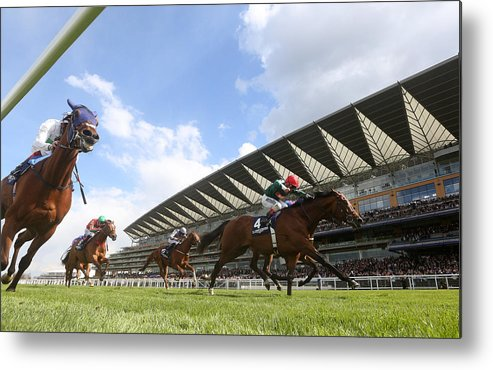 Ascot Racecourse Metal Print featuring the photograph Ascot Races by Charlie Crowhurst
