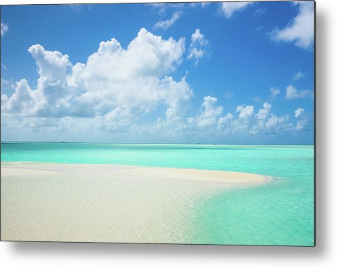 Seascape Metal Print featuring the photograph Atoll Lagoon Sand Bank Turquoise Clear by Mlenny