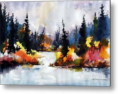 Mother Nature Provides A World Of Leafy Colour Metal Print featuring the painting Autumn Attitude by Wilfred McOstrich