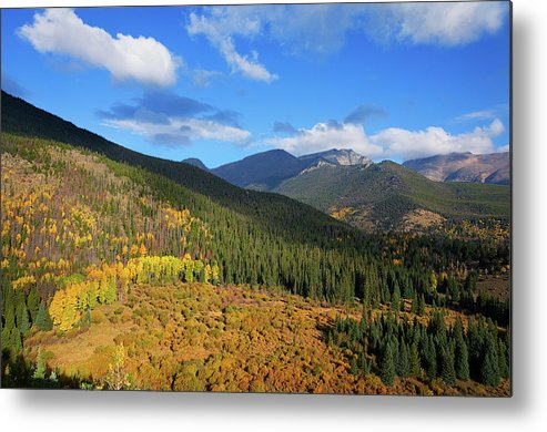 Scenics Metal Print featuring the photograph Autumn Color In Colorado Rockies by A L Christensen
