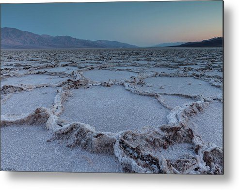 Tranquility Metal Print featuring the photograph Badwater Salt Flats by Henryk Welle