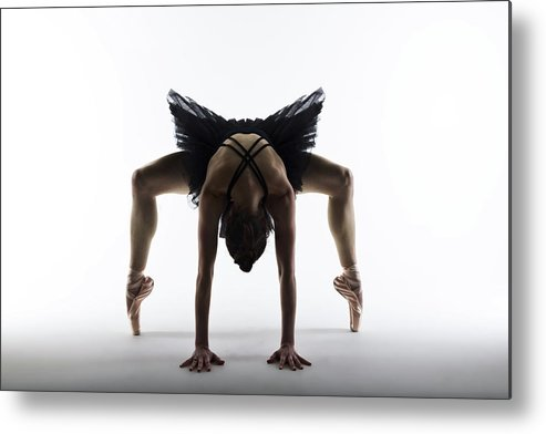 Expertise Metal Print featuring the photograph Balleriina In Contemporary Dance Pose by Phil Payne Photography