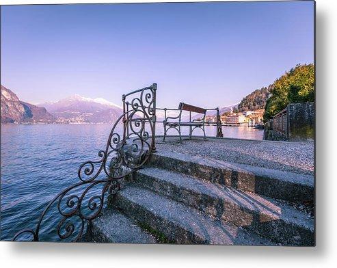 Scenics Metal Print featuring the photograph Bellagio View, Como Lake by Deimagine