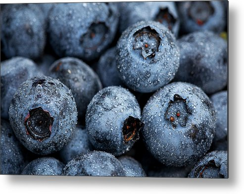 Surrey Metal Print featuring the photograph Blueberries Fruits by Kevin Van Der Leek Photography