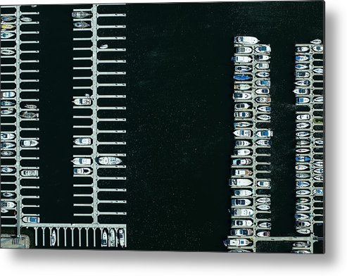 Tranquility Metal Print featuring the photograph Boats In The Harbour by Michael H