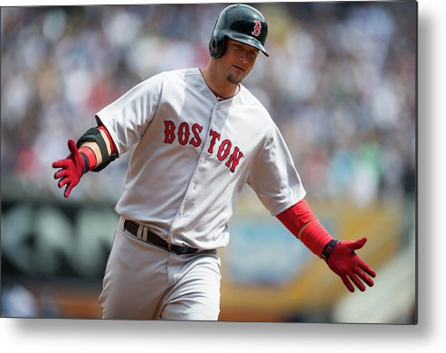 East Metal Print featuring the photograph Boston Red Sox V. New York Yankees by Rob Tringali