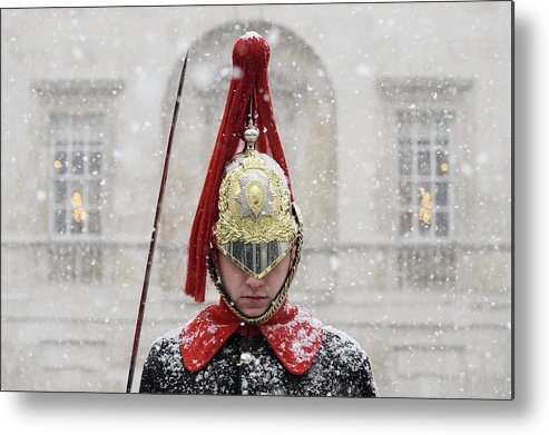 Snow Metal Print featuring the photograph Britain Freezes As Siberian Weather by Leon Neal