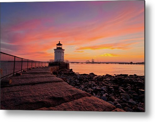 Built Structure Metal Print featuring the photograph Bug Light Sunrise 1899 by Www.cfwphotography.com