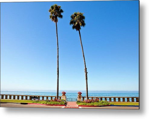 Tranquility Metal Print featuring the photograph Butterfly Beach, Santa Barbara by Geri Lavrov