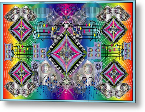 Music Metal Print featuring the digital art Cacophony by George Pasini