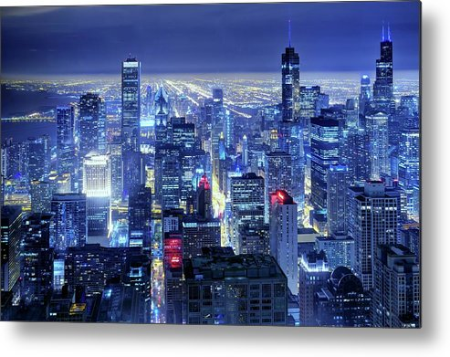 Tranquility Metal Print featuring the photograph Chicago by Thomas Kurmeier