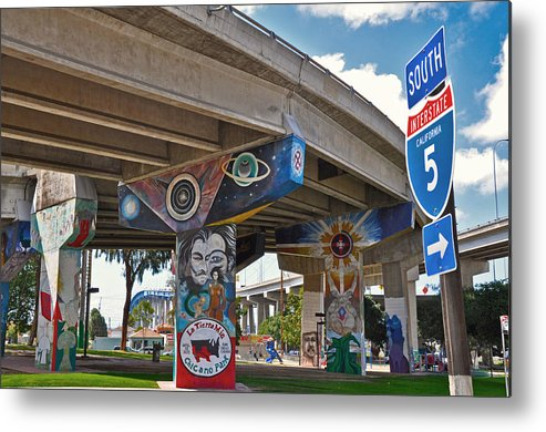 Color Metal Print featuring the photograph Chicano Park by Todd Hartzo