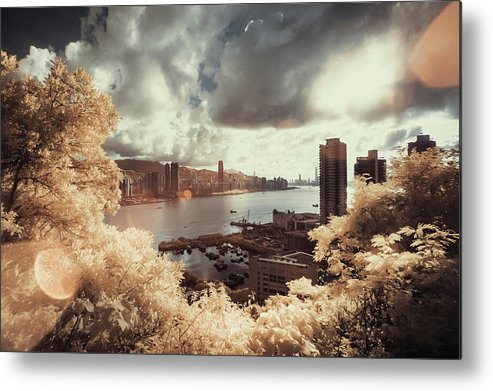 Treetop Metal Print featuring the photograph Cityscape In Dream by D3sign