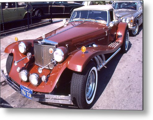Autos; Clenet; Cars; Still Lifes. Metal Print featuring the photograph Clenet on Rolls Royce Row by Robert Rodvik