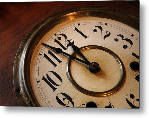 Very Metal Print featuring the photograph Clock face by Johan Swanepoel