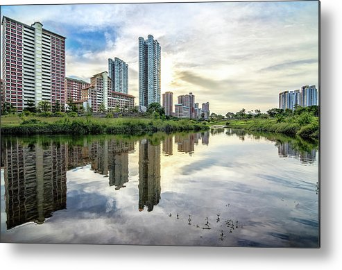 Standing Water Metal Print featuring the photograph Clover Reflections by Tia Photography