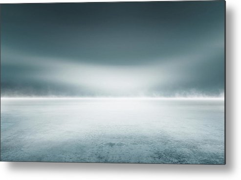 Tranquility Metal Print featuring the digital art Cold Studio Background by Aaron Foster