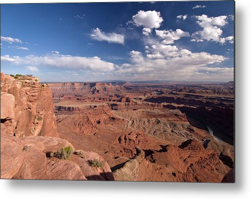 Scenics Metal Print featuring the photograph Colorado River Canyon From Dead Horse by John Elk
