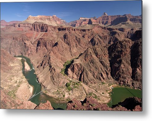 Scenics Metal Print featuring the photograph Colorado River Gorge, South Kaibab by John Elk