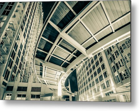 Abstract Metal Print featuring the photograph Complex Architecture by Alex Grichenko