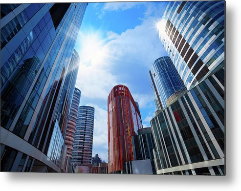 Chinese Culture Metal Print featuring the photograph Contemporary Building by Ithinksky