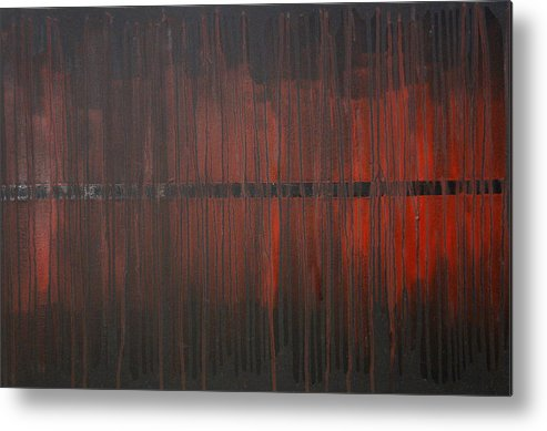 Fantasy Metal Print featuring the painting Cross the Line by Sergey Bezhinets