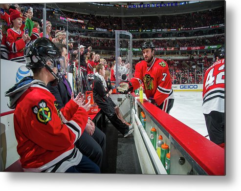 United Center Metal Print featuring the photograph Dallas Stars V Chicago Blackhawks by Bill Smith