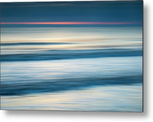 Tranquility Metal Print featuring the photograph Dawn Seascape Abstract by Photos By R A Kearton