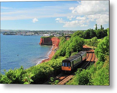Passenger Train Metal Print featuring the photograph Devon Train by Maxian