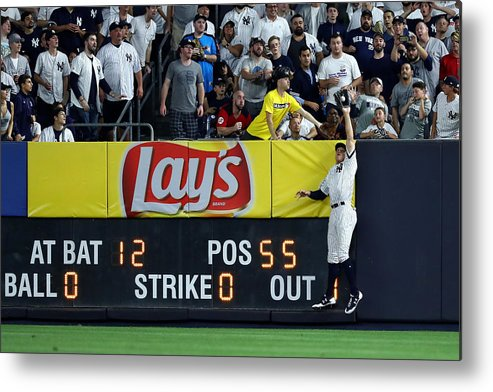 People Metal Print featuring the photograph Divisional Round - Cleveland Indians v New York Yankees - Game Three by Al Bello