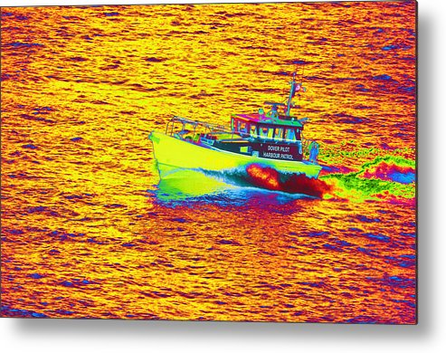 Dover Metal Print featuring the photograph Dover Pilot Psychedelicized by Richard Henne