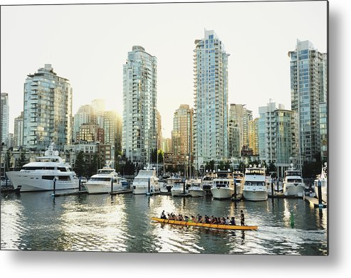 Tranquility Metal Print featuring the photograph Dragon Boating In Vancouver by Carlina Teteris