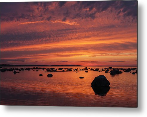Tranquility Metal Print featuring the photograph Dramatic Sunset Light by Franz Aberham