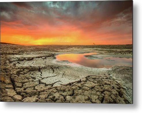 Tranquility Metal Print featuring the photograph Droughts Bane by Aaron Meyers