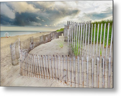 Tranquility Metal Print featuring the photograph East Hampton Beach, Long Island, New by Mitchell Funk