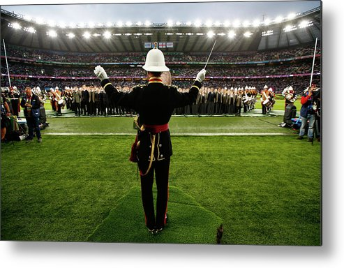 Opening Ceremony Metal Print featuring the photograph England V Fiji - Group A Rugby World by Chris Lee - World Rugby