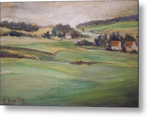 Farm Metal Print featuring the painting Fields of Farms by Jennifer Lycke