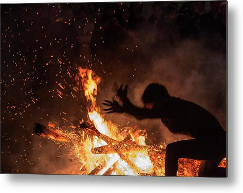 Fire Dancer Metal Print featuring the photograph Fire Dance by By Hoang Hai Thinh