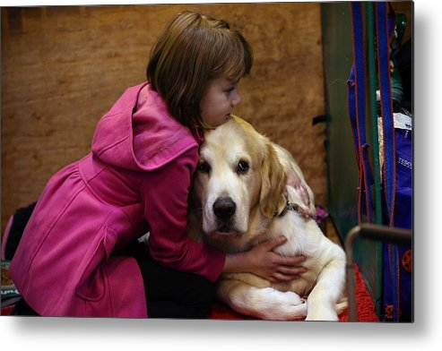 Child Metal Print featuring the photograph First Day Of Crufts 2015 by Carl Court