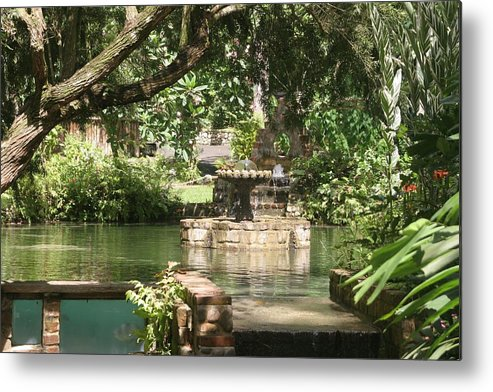 Fountain Metal Print featuring the photograph Fountain of Youth by Dervent Wiltshire