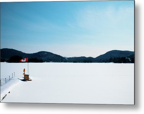 Scenics Metal Print featuring the photograph Frozen Lake In Canada by Haja Rasambainarivo