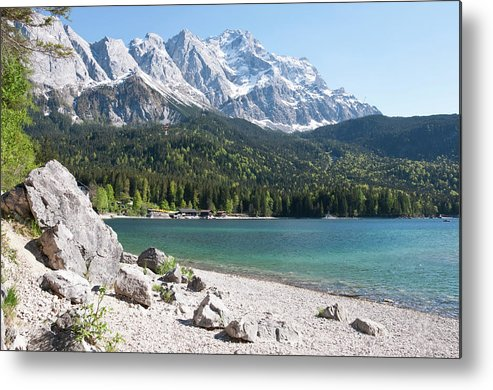 Germany Bavaria View Of Lake Eibsee Metal Print By Westend61