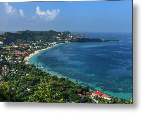 Scenics Metal Print featuring the photograph Grand Anse Bay, Grenada by Flavio Vallenari