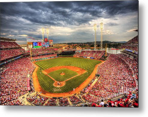 Cincinnati Reds Metal Print featuring the photograph Great American Ballpark by Shawn Everhart
