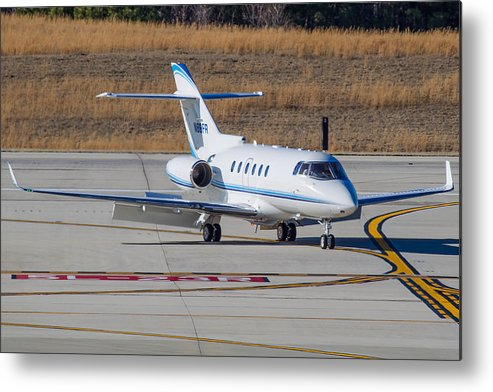 Metal Print featuring the photograph Hawker 900XP by Richard Jack-James