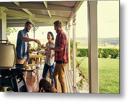 People Metal Print featuring the photograph He sure knows how to host a lunch by Pixdeluxe