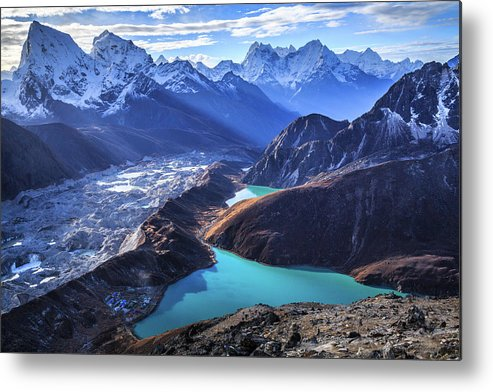 Tranquility Metal Print featuring the photograph Himalaya Landscape, Gokyo Ri by Feng Wei Photography