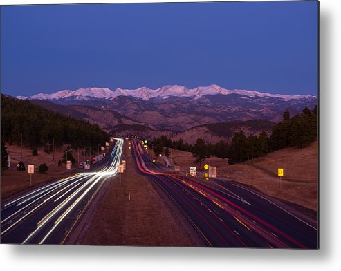 Snow Metal Print featuring the photograph I-70 West, Colorado by Sparty1711