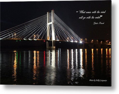 Bridge Metal Print featuring the photograph Illuminated Night by Holly Carpenter