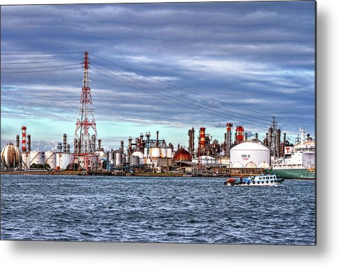 Manufacturing Equipment Metal Print featuring the photograph Industrial View by Uemii